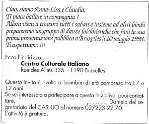 INVITO DANZE FOLKLORISTICHE 1998