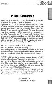 LA PIAZZA N.57 Avril 1997 éditorial