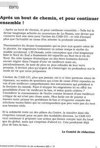 LA PIAZZA N.79 Décembre 2005 éditorial