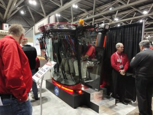 This station in the very sophisticated CaseIH exhibit allowed visitors to experience the inside of their newest combine cab.