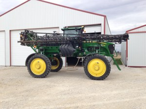 John is in to refill his sprayer.  Then, he will go out for another 80 acres.  Fall herbicide application has become important in the last few years.