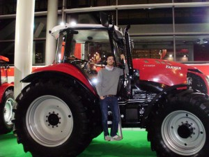 Here is Victor at Agritechnica.  This FARMER tractor is made in Poland.