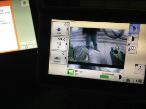 This is the video display from the new camera installation.  It appears on the Command Center on the armrest of the JD 9360R tractor
