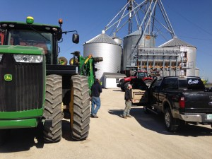 The JD 9360R and the MX 290 are out and ready to apply NH3.  Ross and Brandon returned with their report:  It's a no-go today.