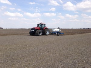 Ross applies anhydrous ammonia.  There are 7 farm locations yet to apply.