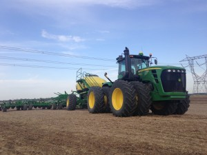 During a brief stop on the Downen farm to check on one of the many WASCoBs there, I captured this image of the planting rig.