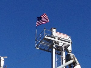 Old Glory flies proudly above Carnahan & Sons