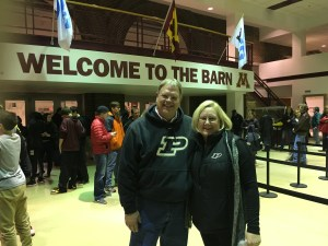 """What an impressive old place-- Williams Arena, aka """"The Barn"""". And the weather was not the sub-zero stuff we expected, but 40ºF at game time!"""