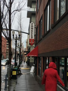 Powell's Book Store covers an entire city block, and is a Portland landmark.