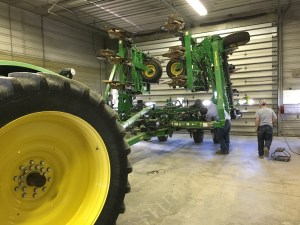 The JD 2510H is in the shop today. John is disassembling each valve of the N-Ject control system to give them a thorough inspection.