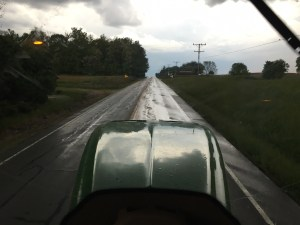 ... until the rain came in the evening.  Traveling home here on IN Hwy 550