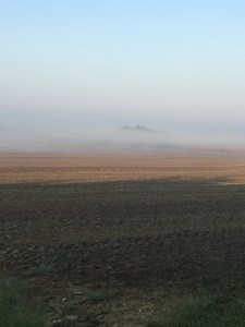 It's a good thing there is bright sunshine today to burn off this fog!
