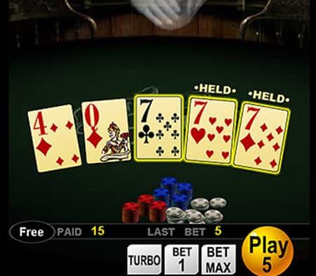 ビデオポーカーは馴染みのあるゲーム