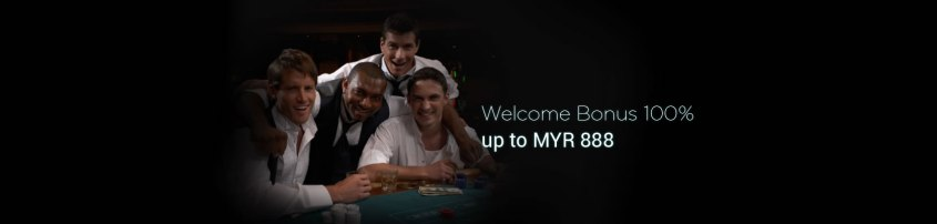 9Club Welcome Bonus 100% up to MYR 888
