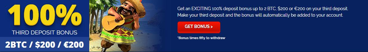 BetChain Bitcoin Casino Massive 2BTC 3rd Deposit Bonus