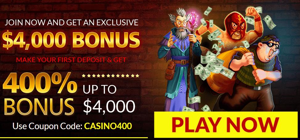400% First Deposit Bonus