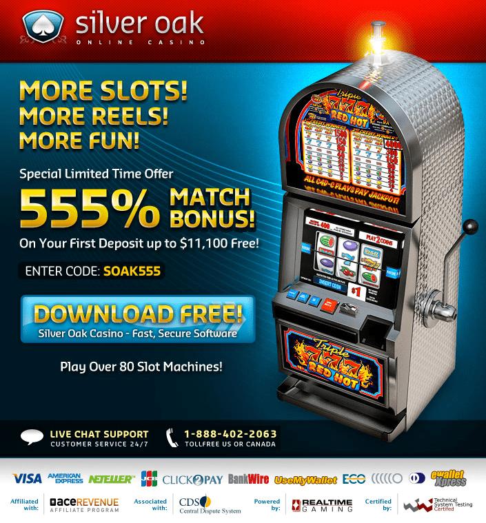 Silver Oak Casino Deposit Bonus Codes