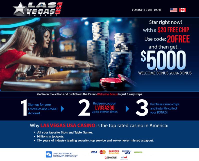 Las Vegas Usa No Deposit Bonus