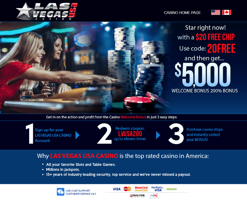 20 No Deposit Bonus at Las Vegas USA