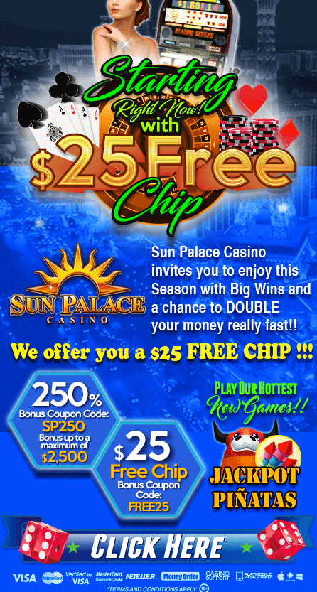 Sun Palace Casino No Deposit Bonus Codes