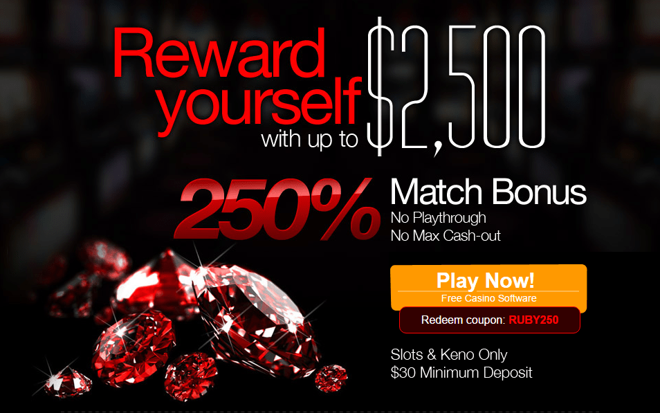 Ruby Slots 250% up to $2500