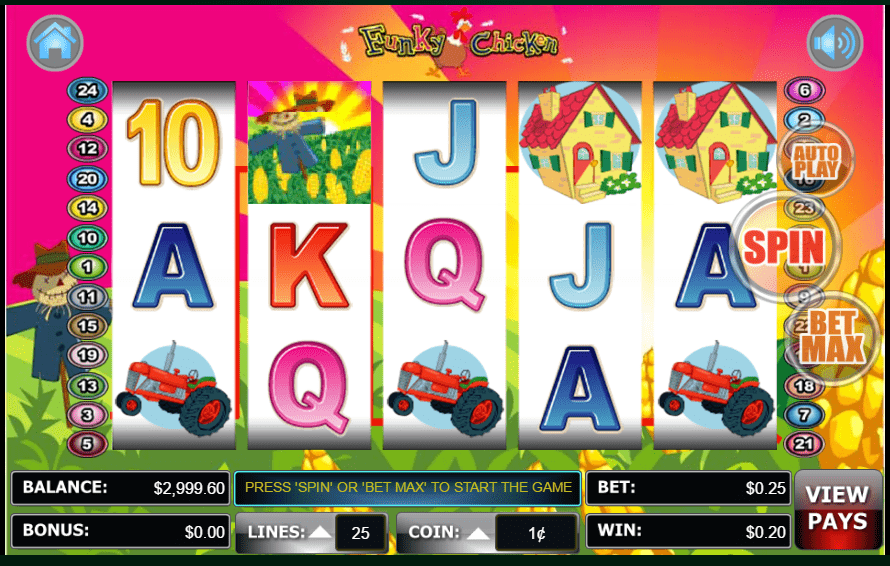 Lincoln Casino 100 FREE Spins WGS Funky Chicken