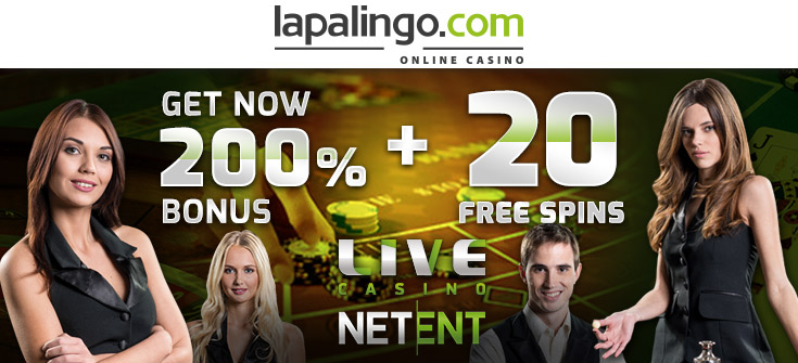 Lapalingo Casino Live Dealer 200% plus 20 FREE Spins