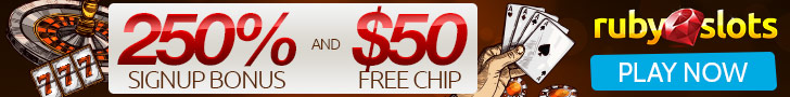 Ruby Slots 300% Sign Up Bonus and $50 FREE Chips