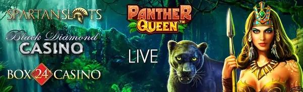Spartan Slots Box 24 Black Diamond Casino Panther Queen Pragmatic Play