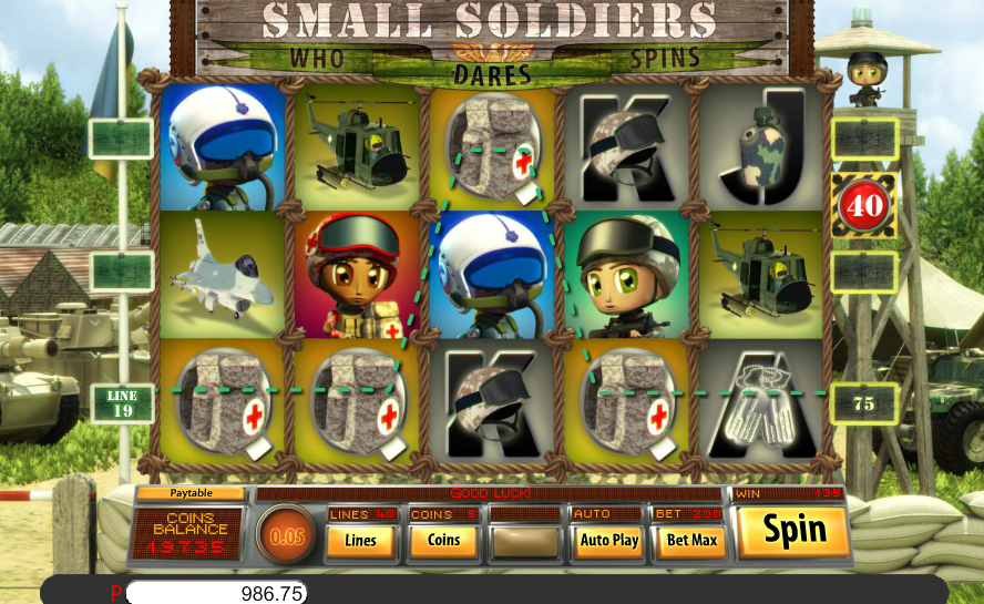 WizBet Online Casino Saucify Small Soldiers 45 FREE Spins No Deposit Required