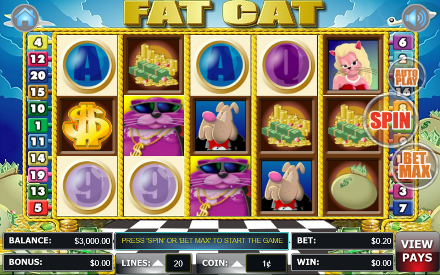 Liberty Slots WGS Technology Fat Cat