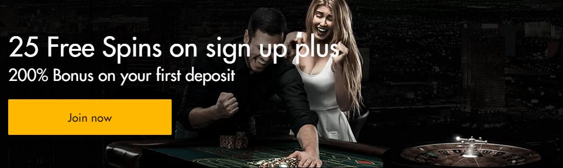 WInward Casino 25 FREE Spins 200% First Deposit Bonus