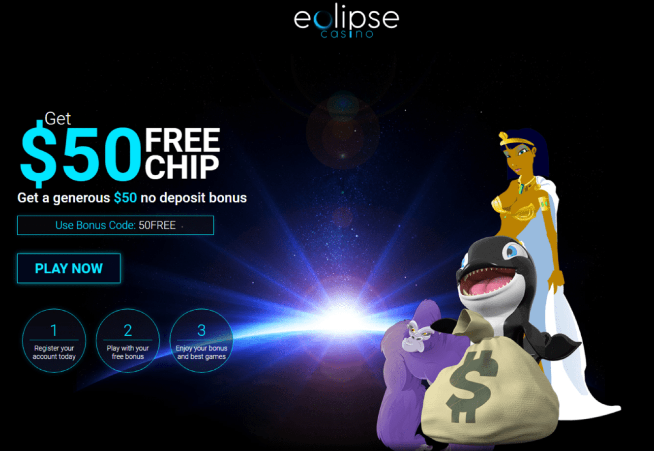 Eclipse Casino 50 No Deposit Required Free Chip Casino Bonus