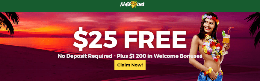 Jumba Bet $25 FREE Chips and $1200 Welcome Bonus