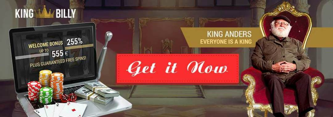 King Billy Casino High Five with the King Welcome Bonus