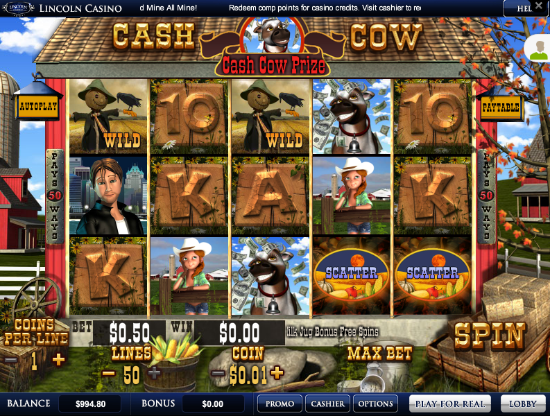 Lincoln Casino Liberty Slots Cash Cow