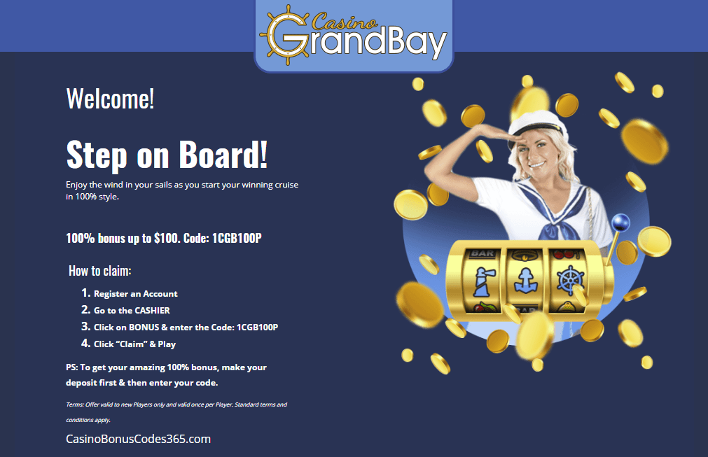 Casino Grand Bay $100 Welcome Bonus