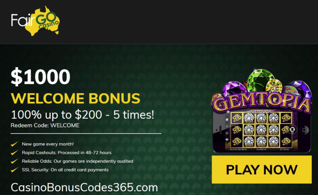 Fair Go Casino RTG Gemtopia