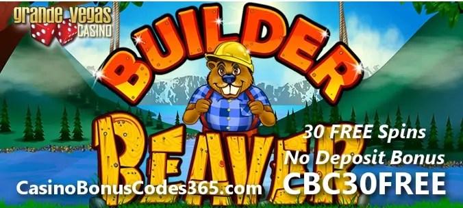 Grande Vegas Casino RTG Builder Beaver 30 FREE Spins