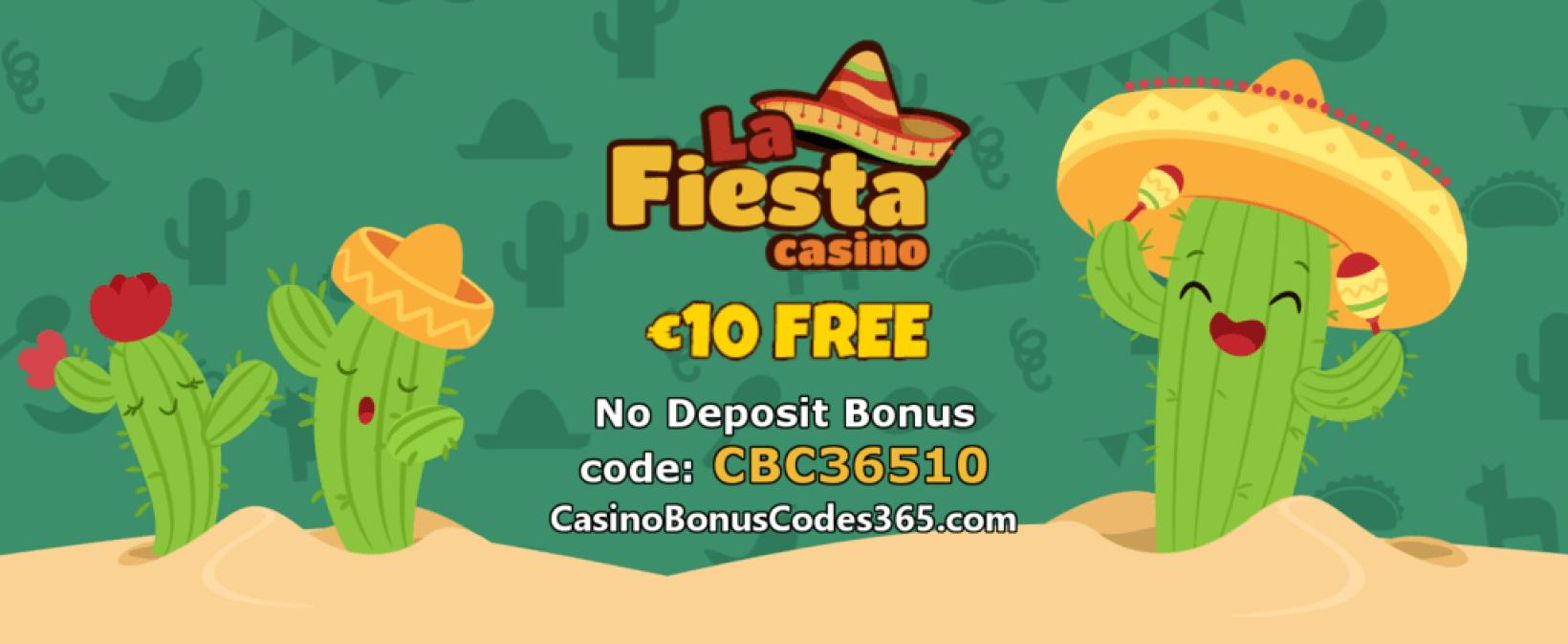 La Fiesta Casino €10 FREE No Deposit Bonus