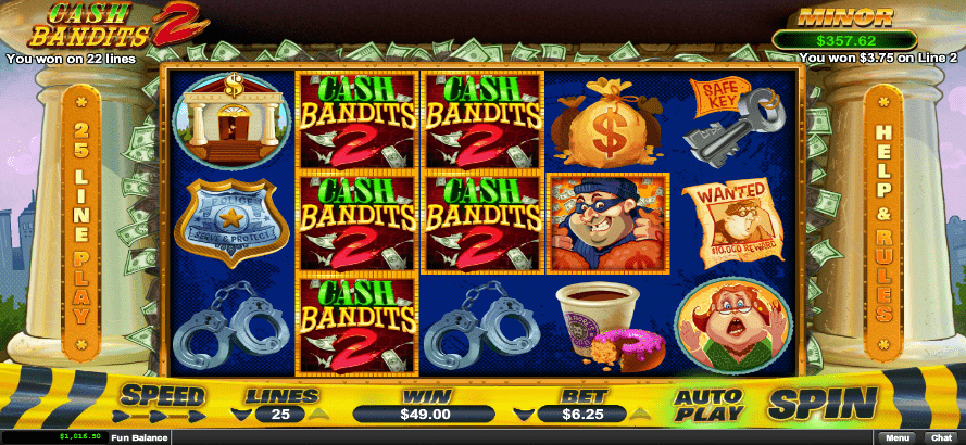 Raging Bull Casino RTG Cash Bandits 2