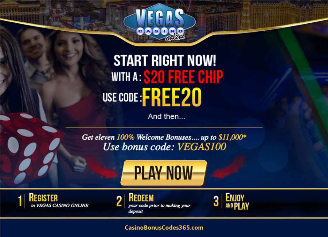 Vages Casino Online $20 FREE Chips plus 100% Bonus