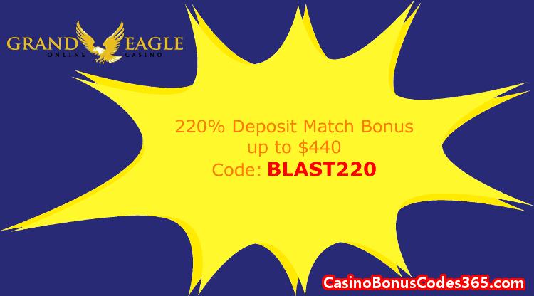 Grand Eagle Casino 220% Match up to $440