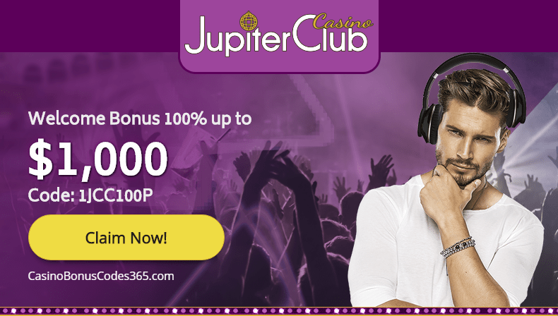 Jupiter Club Casino 100% Welcome Bonus