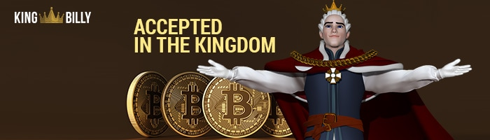 King Billy Casino Bitcoin Accepted BTC