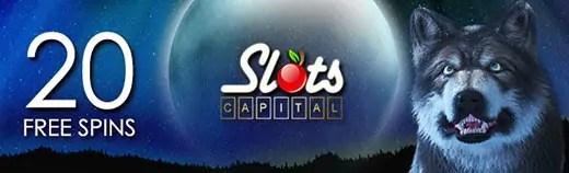 Slots Capital Online Casino Mystic Wolf Australia 20 No Deposit FREE Spins