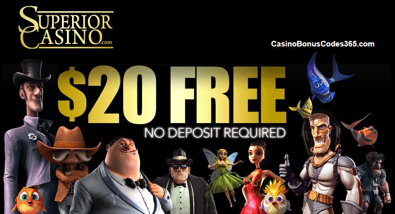 Superior Casino $20 No Deposit FREE Chips