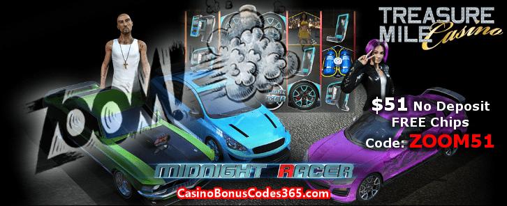 Treasure Mile Casino ZOOM51 September No Deposit FREE Chips Promo