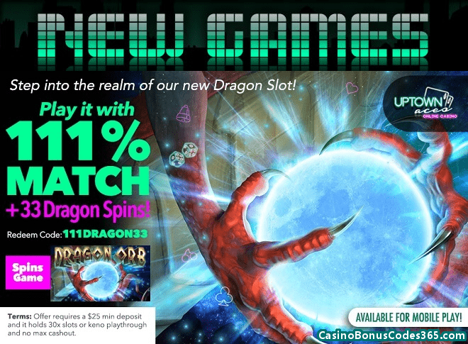 Uptown Aces RTG New Game Dragon Orb