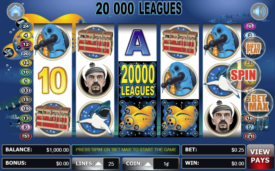 Lincoln Casino WGS 20000 Leagues 100 FREE Spins